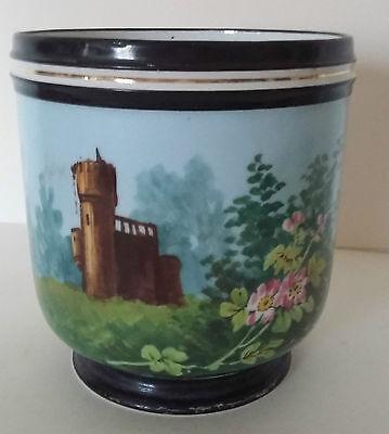 Cache Pot Porcelaine De Paris Napoléon Iii Décor Aux Ruines Mooi En Kleurrijk