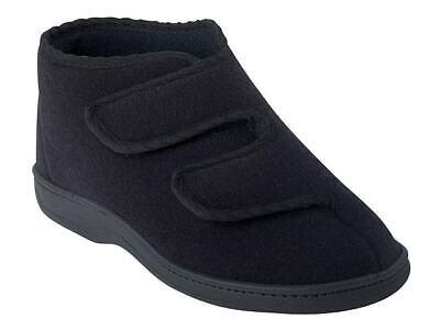 OrtoMed Hausschuhe mit Klettverschluss Schuhe schwarz 36-46 6051T44PUT44 Neu1