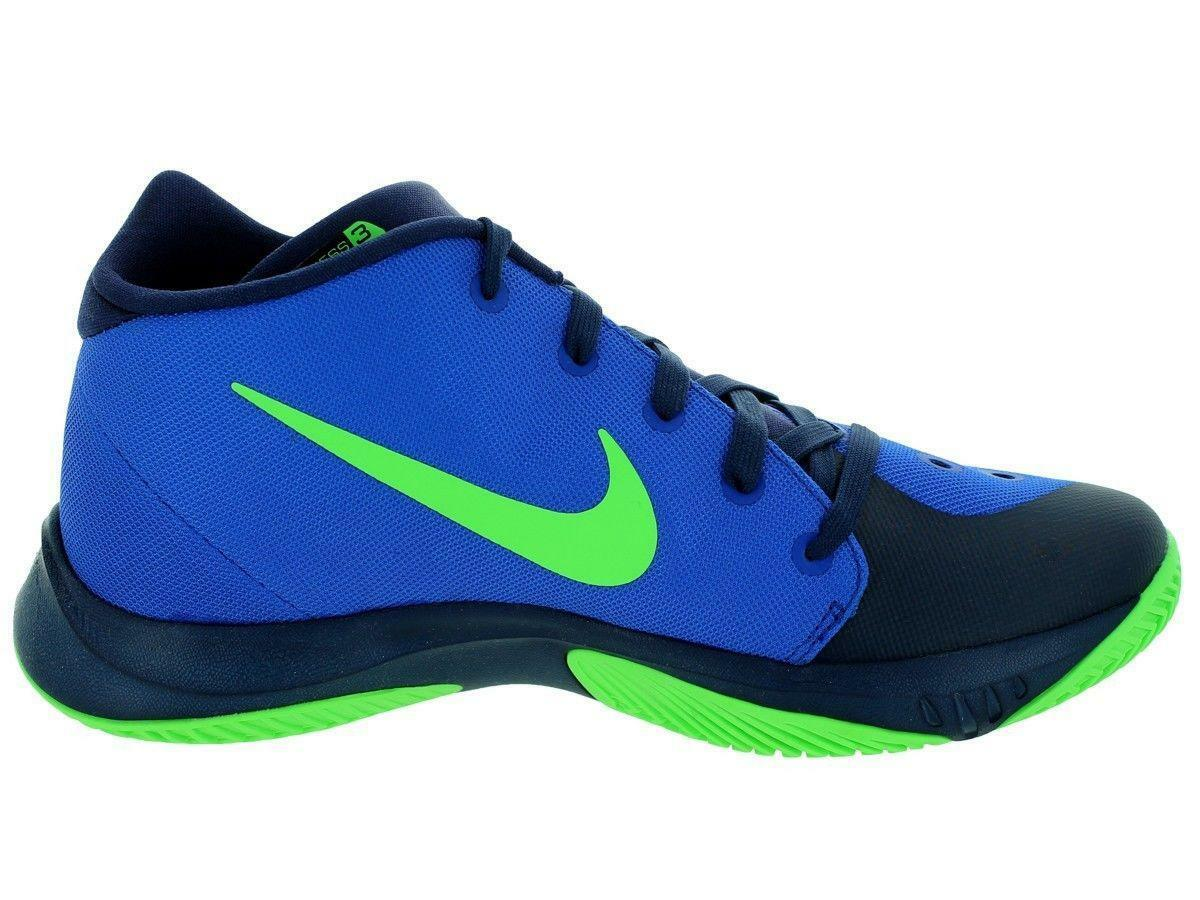 Mens NIKE Zoom Hyperquickness 2015 Blue Basketball Trainers 749882 434