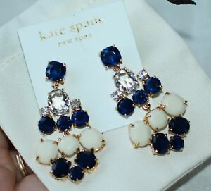 Kate Spade Chandelier Earring Drop Dangle Gem Sapphire Midnight Navy