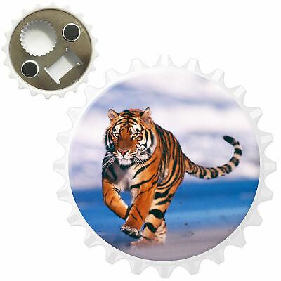 Tiger Walking The Beach Bottle Opener Fridge Magnet
