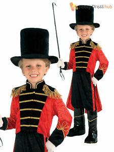Boys Ringmaster Fancy Dress Costume Greatest Showman Fancy Dress Circus Lion