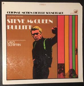 BULLITT-Lalo-Schifrin-Steve-McQueen-VINYL-LP-OST-First-Pressing-WS1777-EX-EX