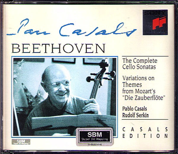 CASALS & SERKIN: BEETHOVEN 5 Cello Sonata Variation 2CD Pablo Rudolf Cellosonate