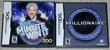 Nintendo DS Lot - Minute to Win It (Used) Who Wants To Be A Millionaire (New)