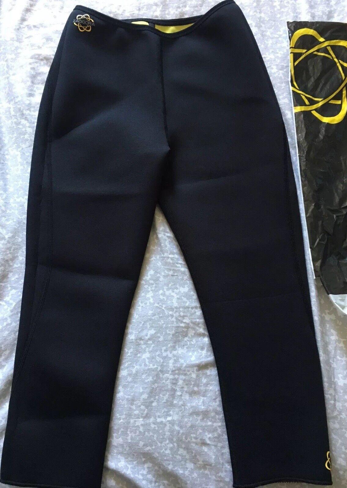 BNWT Zaggora Nero Capri Celu-lite tecnologia Allenamento Pantaloni Taglia M