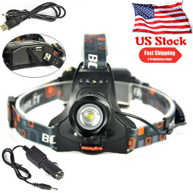 Bright 15000lm L2 LED Headlamp Headlight Head Zoom Torch 18650 Chargeable