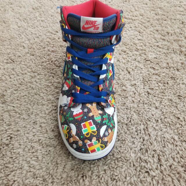 pretty nice 0575a b4ce5 Nike SB Dunk High TRD QS Ugly Christmas Sweater SB Concepts 881758 446 Mens  10