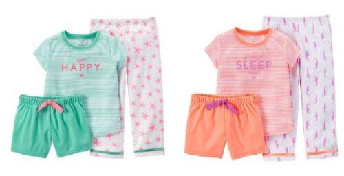 or 4T NWT Carter/'s Toddler Girls 3pc Pajamas Happy or Sleep Sizes 24M