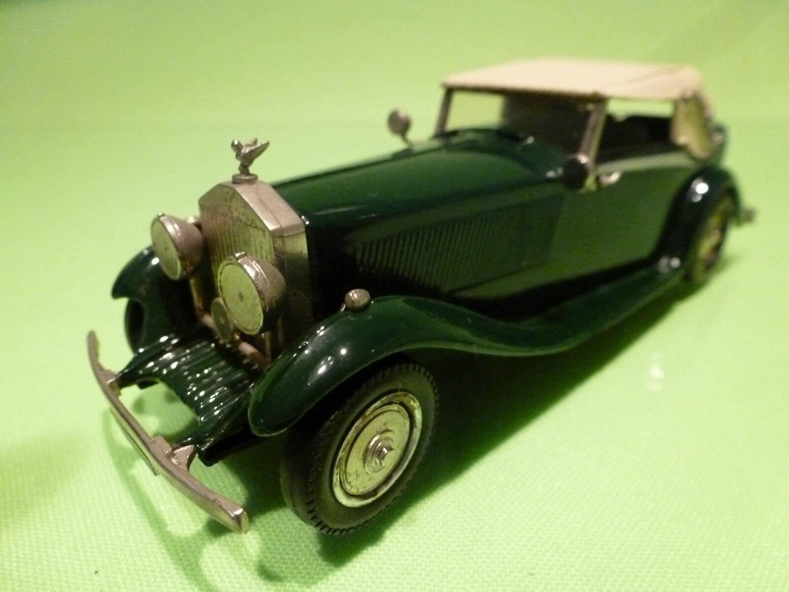 WESTERN MODELS ROLLS ROYCE  CONVERTIBLE CLOSED TOP - vert 1 43 - VERY GOOD  aucune hésitation! achetez maintenant!