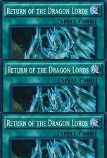 3 X RETURN OF THE DRAGON LORDS -(SR02-EN025)- Super Rare 1st Edition - YuGiOh