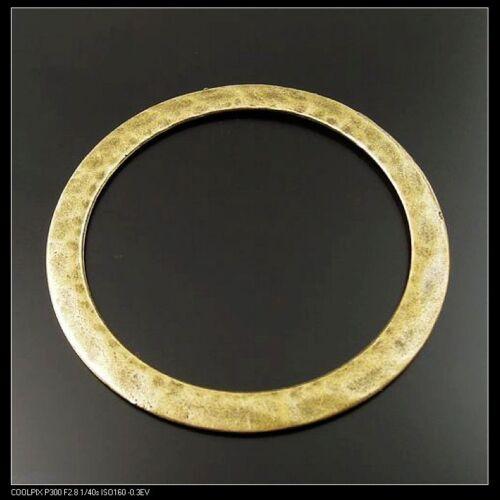 32999 Antique Style Bronze Tone surfaces inégales Circle Charms Pendants 12pcs
