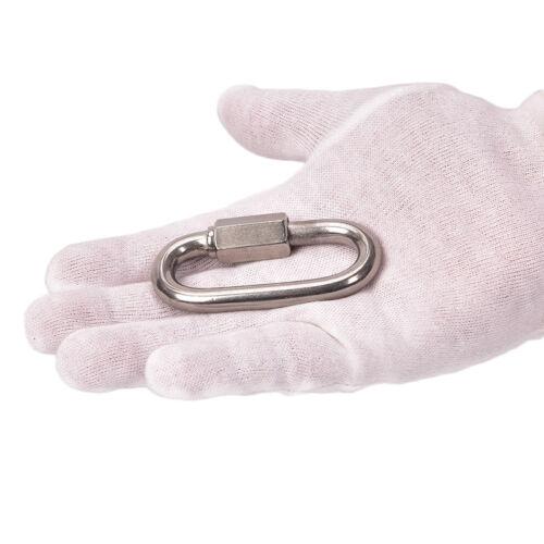 Vis en acier inox verrou d/'escalade mousqueton Quick Links crochet sécurité K