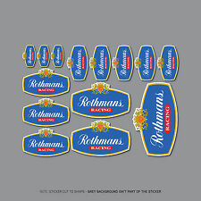 SKU2446 - 14 x Rothmans Racing Stickers - Motorcycle - Rally - Car Decals