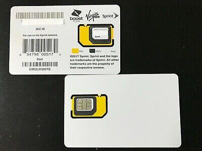 New Sprint Simolw506tq Byod Triple Cut Sim Card Boost Virgin Mobile Samsung 854798005170 Ebay