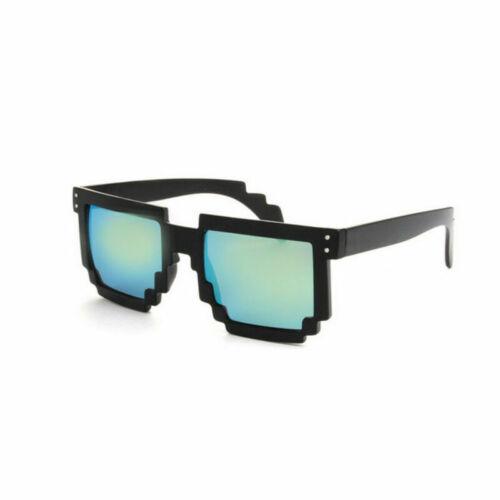 Sonnenbrille Retrobrille Pixelbrille Nerd 80er Kult gamer sunglasses Unisex Neu