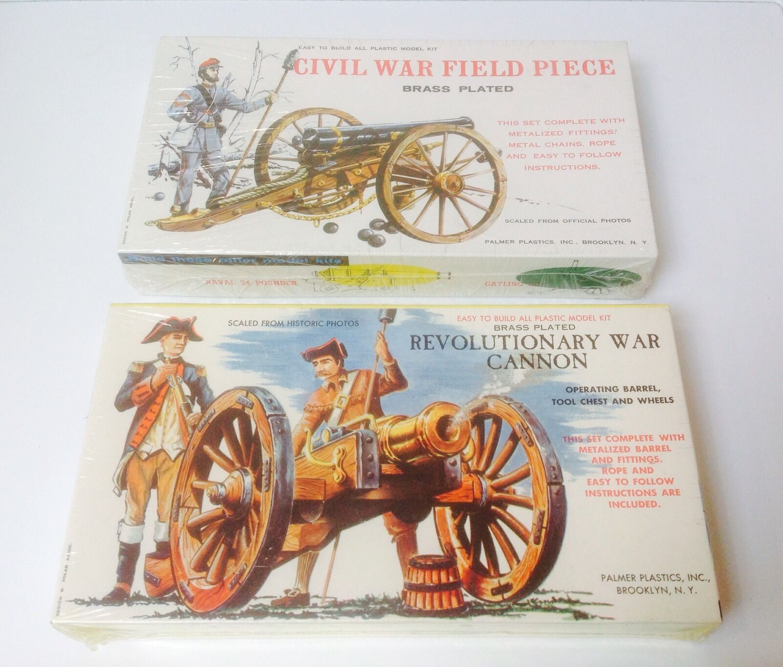 ARMY   REVOLUTIONARY CANNON CIVIL FIELD MODEL KIT-PALMER PLASTICS MADE IN USA