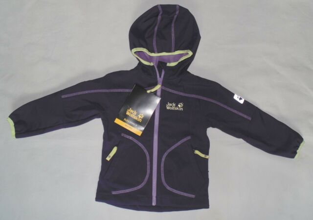 Jack Wolfskin Toddler Girls Size 104 3 4 Years Whirlwind Softshell Jacket Prune