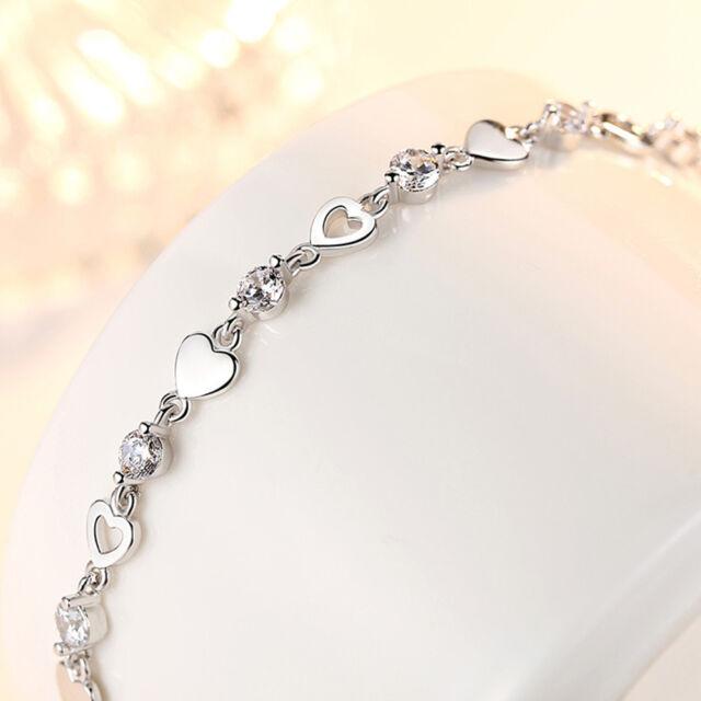 Women S 925 Sterling Silver Zircon Love