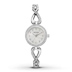 Bulova-Women-039-s-Quartz-Crystals-Infinity-Necklace-Watch-Box-Set-23mm-96X129