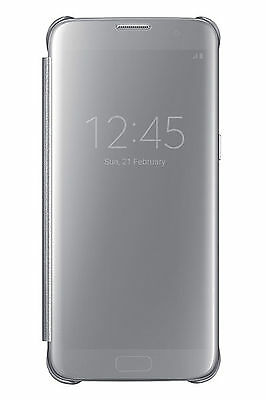 Official Samsung Galaxy S7 Edge Silver Clear View Cover / Case - EF-ZG935CSEGWW