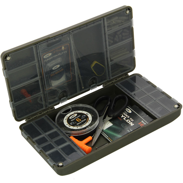 """XPR TERMINAL TACKLE BOX SYSTEM STIFF RIG CASE /& LEAD STORAGE BAG /""""EMPTY/"""" NGT"""