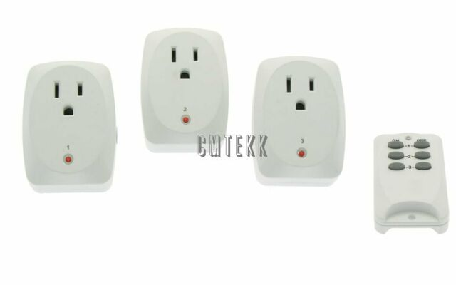 3 Pack - Wireless RF Remote Control AC Power Outlet Plug Light Socket  Switch NEW