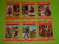 6 x BASTEI WESTERN - DOPPELT  ( ZWEI NEUE WILDWEST-ROMANE ) 1970-1974 / PACK 1