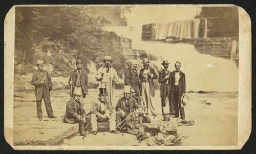 1863 Diplomatas Trenton Falls Nova York NY Secretário de Estado William Seward