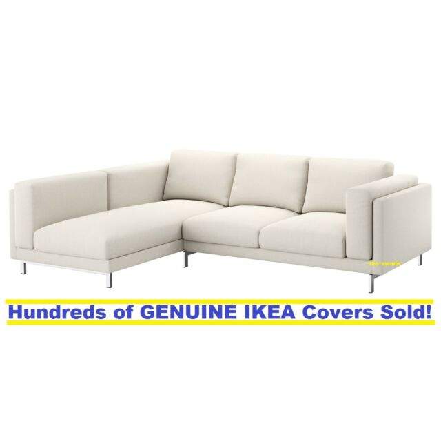 Ikea Nockeby Sofa With Chaise Left Cover Slipcover Tallmyra Light Beige New! by Ebay Seller