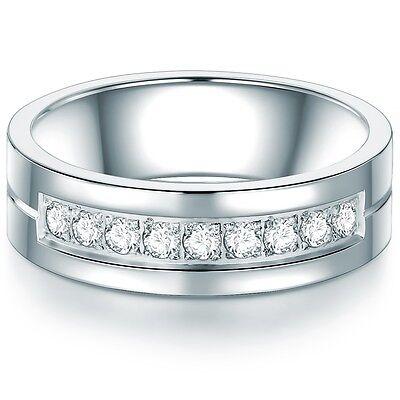 Tresor 1934 Damen-Ring vergoldet Edelstahlring Zirkonia weiß
