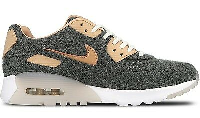 NEW Womens Nike AIR MAX 90 ULTRA PREMIUM sz 6 GRAY Tan Wool Shoes Sneakers 823229641348 | eBay