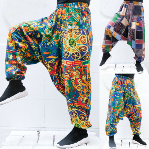 Vintage Mens Nepalese Pants by INCERUN Yoga Casual Trousers Hippy Festival Pants