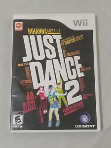 Just-Dance-2-Nintendo-Wii-2010-Complete-Case-Game-Disc-Manual-EUC