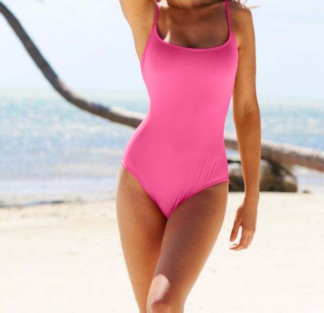 364013b3762 Anne Cole Signature One Piece Sz 8 Pink Solid Adjustable Straps Swimsuit  15MO001