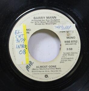 Rock-Promo-45-Barry-Mann-Almost-Gone-Almost-Gone-On-Warner-Bros-Records