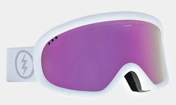 Electric, Goggle, The Charger , Frame  matte white, Lens  bronse pink chrome