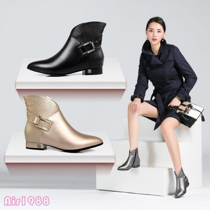 Motor de cuero para mujer botas al Tobillo Zapatos Zapatos Zapatos Tacón Bajo Tobillo botas 2019 formal señoras  orden ahora con gran descuento y entrega gratuita