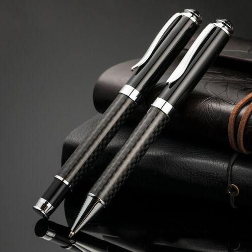 Fibra de Carbono Punto Bola Pluma Oficina Estudiante Material Roller Señal Negro