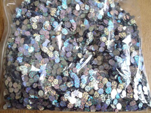 1000 x SEA FISHING 10mm SILVER HOLOGRAPHIC SEQUINS FOR RIGSLURESHOOKS..