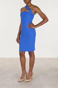 DSQUARED2-995-Off-Shoulder-Dress-In-Blue-Stretch-Cady-Viscose