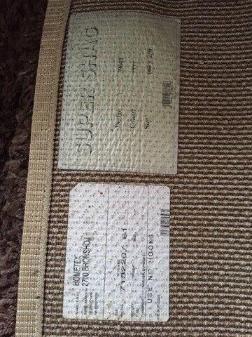 Løse tæpper, Brun Super Shag, b: 160 l: 230