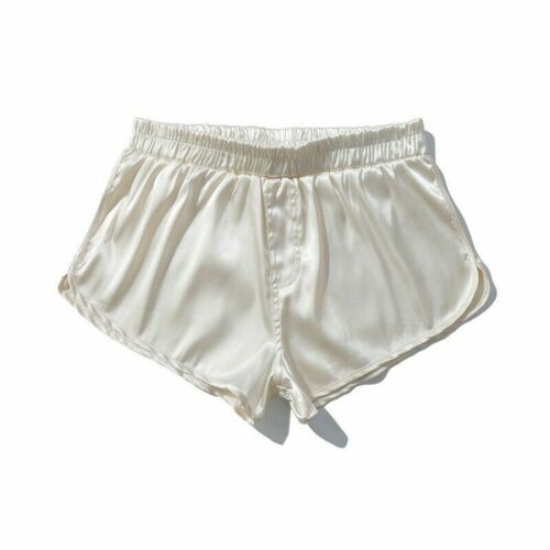 Men Solid Shorts Underwear Polyester Mini Pants Breathable Home Casual Boxer SPW