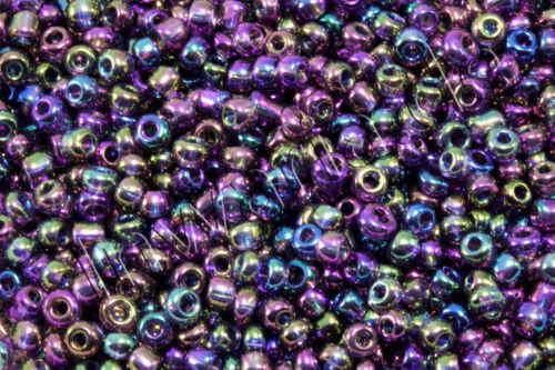 Rocaille METALLIC LUSTRE ø 2//3//4 mm 20//100 G perles IRIS perles de verre rp-75