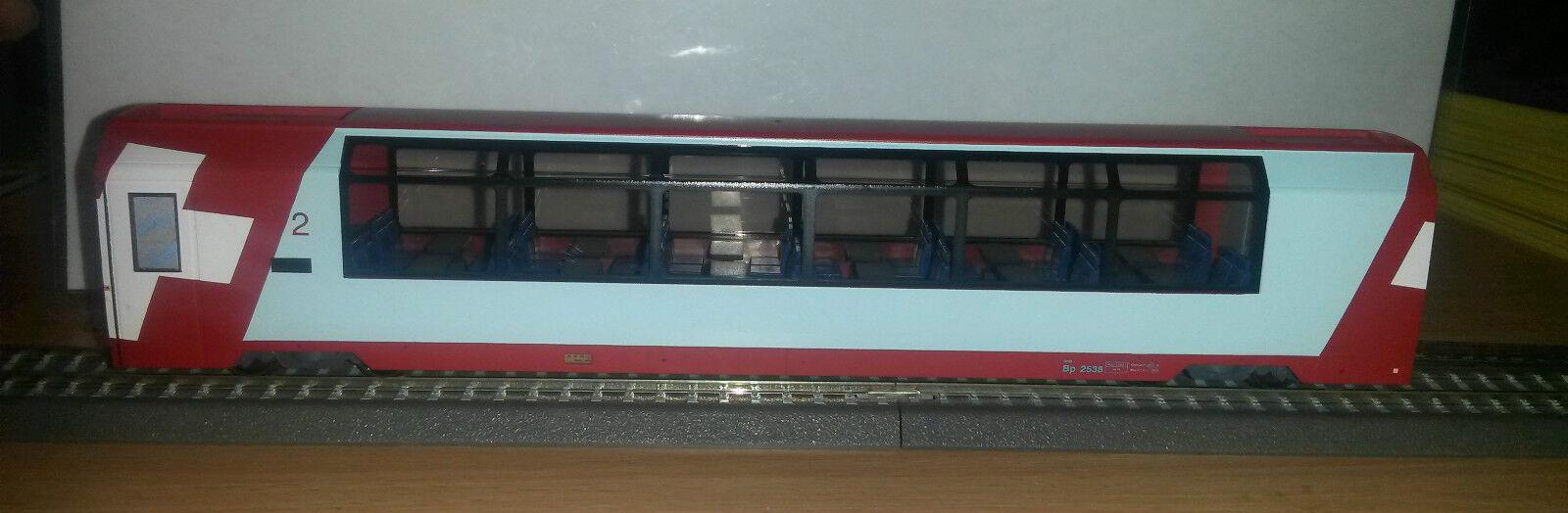 H0m RhB Bp 2538 Panoramawagen 2.Klasse Ep.VI Bemo 3289128 Neu Herregud