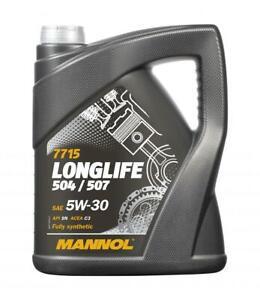 Mannol-5L-Fully-Synthetic-Engine-Oil-Longlife-3-5w30-LL-04-AUDI-VW-504-507-C3
