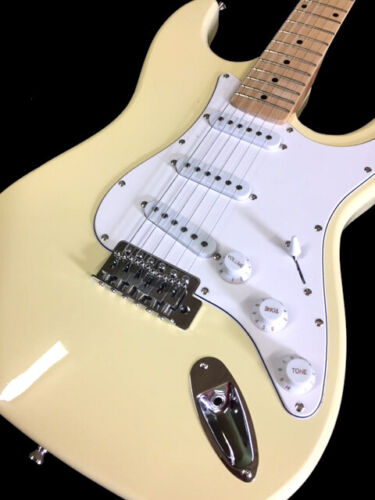 NEW 6 STRING STRAT REVERSE HEADSTOCK ELECTRIC GUITAR VINTAGE WHITE HENDRIX