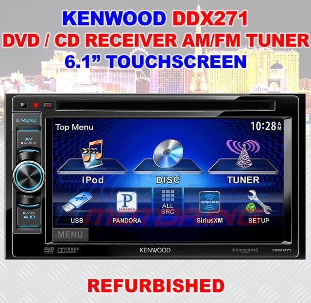 "KENWOOD DDX271 2-DIN 6.1"" TOUCHSCREEN CD / DVD / AM / FM IPHONE IPOD REFURBISHED"