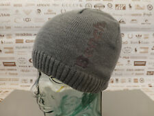 eb869bc31d5c84 BENCH Fine Ribbed Beanie Basic Skull Cap Embroidery Dark Grey Thin Knit Hat  BNWT