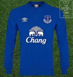 Everton Training Drill Top Black Kids Umbro